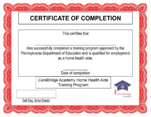 hha certification for caregivers free